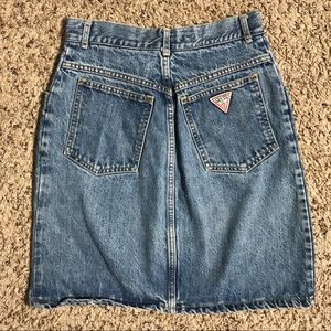 Vintage georges marciano guess denim skirt 26